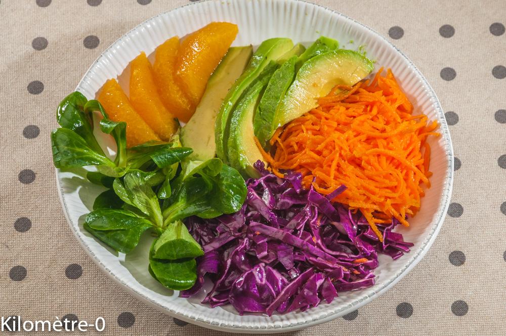 Photo de recette de buddha bowl, healthy, végétarien, vegan de Kilomètre-0, blog de cuisine réalisée à partir de produits locaux et issus de circuits courts