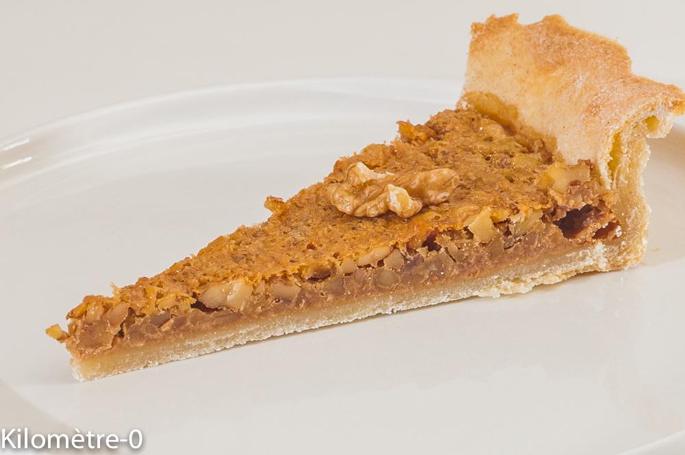 Photo de recette de tarte aux noix, Périgord de Kilomètre-0, blog de cuisine réalisée à partir de produits locaux et issus de circuits courts