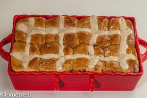 Photo de recette de hot cross buns, petits pains de Pâques de  Kilomètre-0, blog de cuisine réalisée à partir de produits locaux et issus de circuits courts