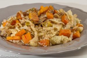 Photo de recette végan, healthy, végétarien, choun patate douce, poireaux de  de Kilomètre-0, blog de cuisine réalisée à partir de produits locaux et issus de circuits courts