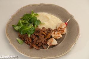 Photo de recette facile de saint jacques, céleri, girolles de de Kilomètre-0, blog de cuisine réalisée à partir de produits locaux et issus de circuits courts