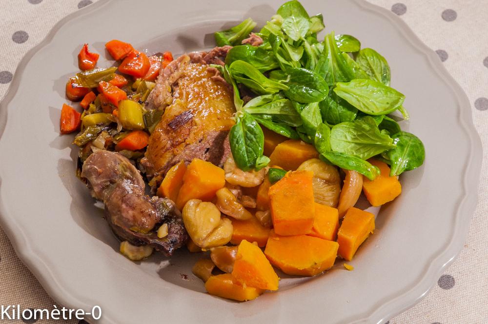 Photo de recette de canard, cuisson douce, légumes, hiver, facile, Kilomètre-0, blog de cuisine réalisée à partir de produits locaux et issus de circuits courts