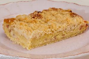 Photo de recette de tarte, crumble, aux groseilles, facile, bio, Kilomètre-0, blog de cuisine réalisée à partir de produits locaux et issus de circuits courts