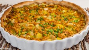 Photo de recette de quiche, poireaux, crevettes, curry, facile, légère, hiver, légumes, bio , Kilomètre-0, blog de cuisine réalisée à partir de produits de saison et issus de circuits courts