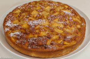 Photo de recette de gâteau charentais, typique, le Gouëron, galette aux pommes, facile, bio rapide de  Kilomètre-0, blog de cuisine réalisée à partir de produits de saison et issus de circuits courts