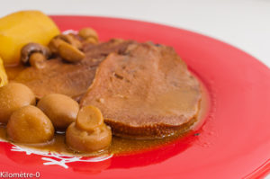 Photo de recette de langue de boeuf, traditionnelle, sauce madère, facile, maison de Kilomètre-0, blog de cuisine réalisée à partir de produits de saison et issus de circuits courts