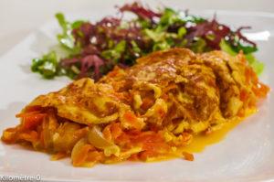 Photo de recette d'oeufs, omelette, Sri Lanka, sri lankaise, asiatique, cuisine du monde, légumes, facile, bio, légère, rapide, plat de Kilomètre-0, blog de cuisine réalisée à partir de produits de saison et issus de circuits courts