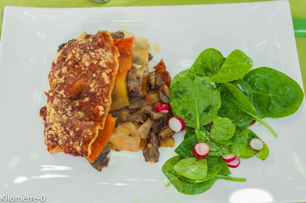 image de recette de Lasagnes aux poivrons, cèpes et parmesan, facile, légères de Kilomètre-0
