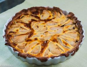 image de Tarte poires chocolat crème d'amande, facile, très bonne, maison, kilomètre-0