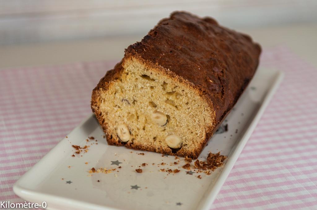 recette de cake aux noisettes et miel, maison, facile, rapide, léger, healthy kilomètre-0
