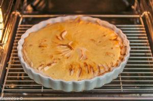 photo de tarte aux pommes à la normande, facile, maison, bio de Kilomètre-0, blog, circuits courts