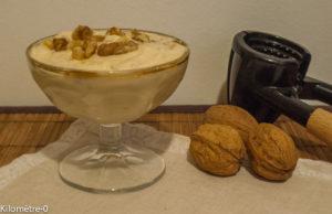 Photo de recette de mousse aux noix de Kilomètre-0, blog de cuisine réalisée à partir de produits locaux et issus de circuits courts