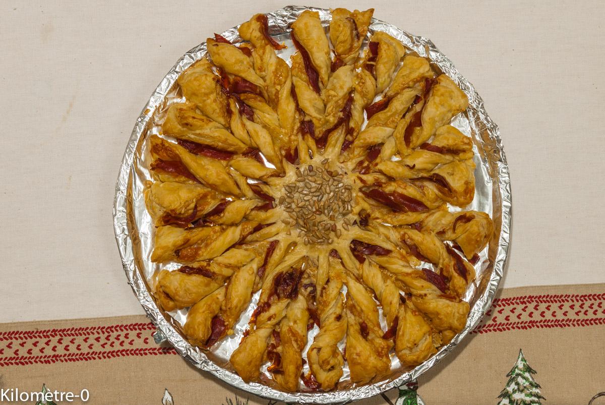 Photo de recette de feuilleté, marguerite,  apéro Kilomètre-0, blog de cuisine réalisée à partir de produits locaux et issus de circuits courts