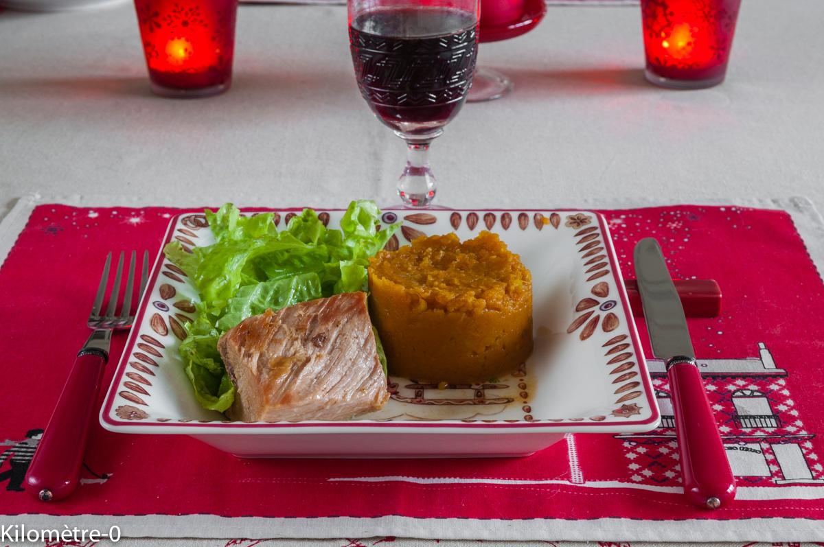Photo de recette de confit de porc Kilomètre-0, blog de cuisine réalisée à partir de produits locaux et issus de circuits courts