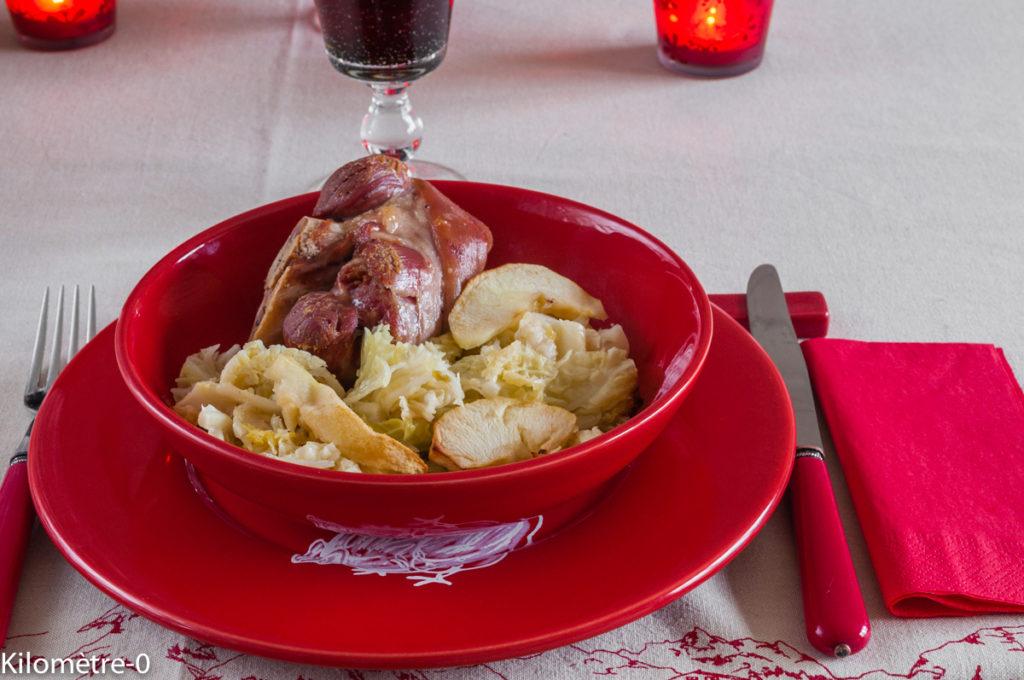 Photo de recette facile, légumes, de jarret de porc Kilomètre-0, blog de cuisine réalisée à partir de produits locaux et issus de circuits courts