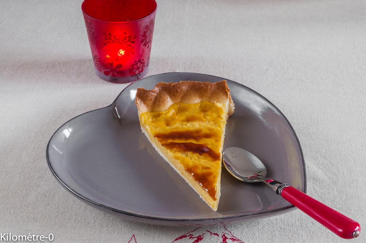 Photo de recette facile de tarte à l'orange de Kilomètre-0, blog de cuisine réalisée à partir de produits locaux et issus de circuits courts
