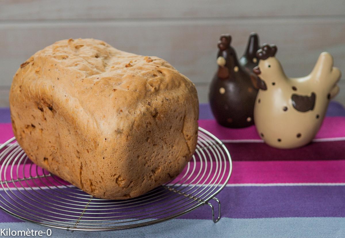 image de recette de pain aux noisettes, facile, bio, maison de Kilomètre-0