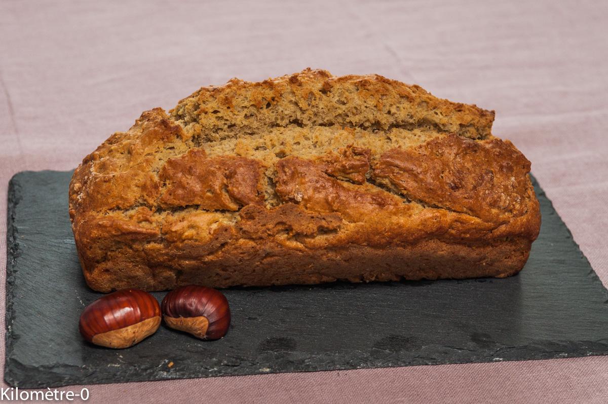 Image de recette facile de Cake aux châtaignes et au miel, gâteau du matin de Kilomètre-0, circuit court