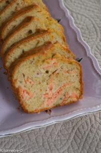 image de recette de cake salé à la truite fumée, saumon fumé, facile, économique de Kilomètre-0