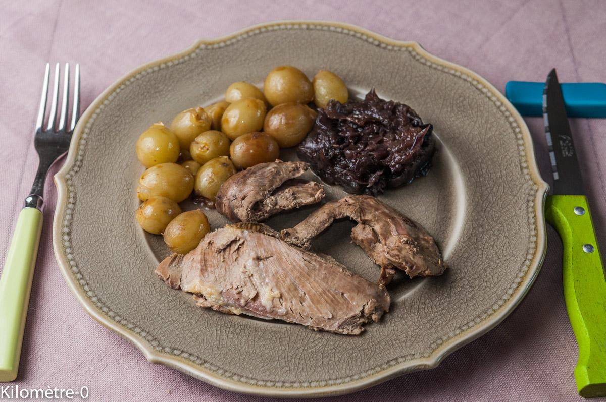 image de recette de Canard, raisins et confit d'oignons, facile, automne,