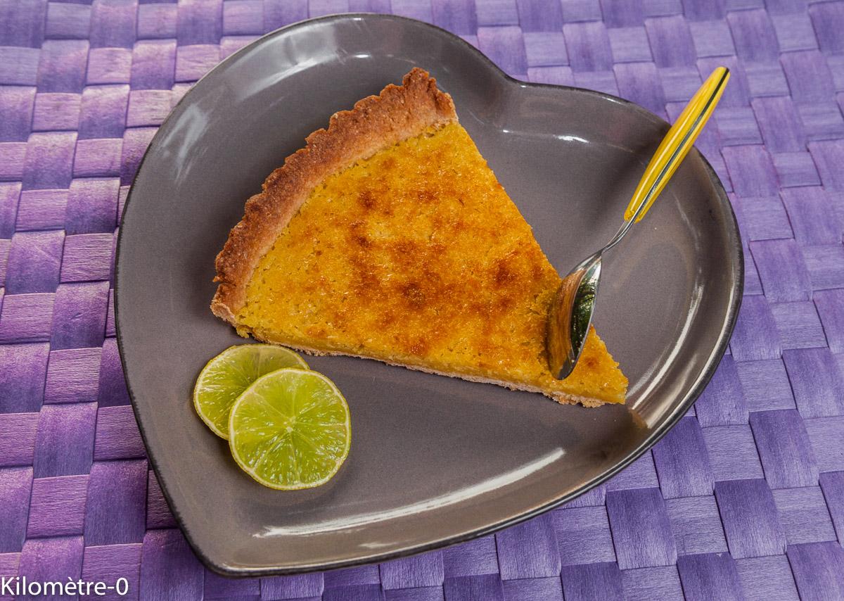 image de recette maison de Tarte citron amandes, facile, rapide, agrumes, bio, Kilomètre-0