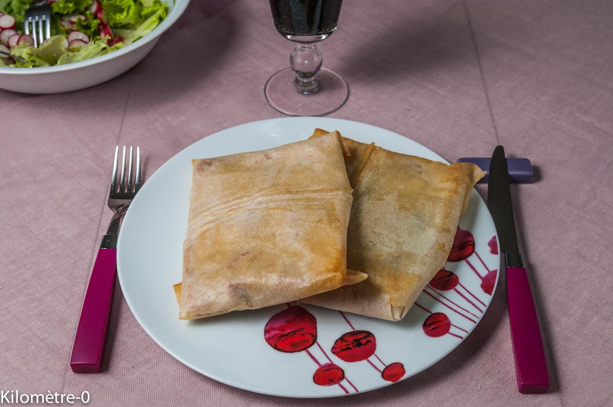 Image de recette facile de Briks jambon cèpes, rapide, du blog Kilomètre-0