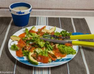 Image de recette de Salade de truite, avocat et noix, facile, rapide, healthy, légère, de Kilomètre-0