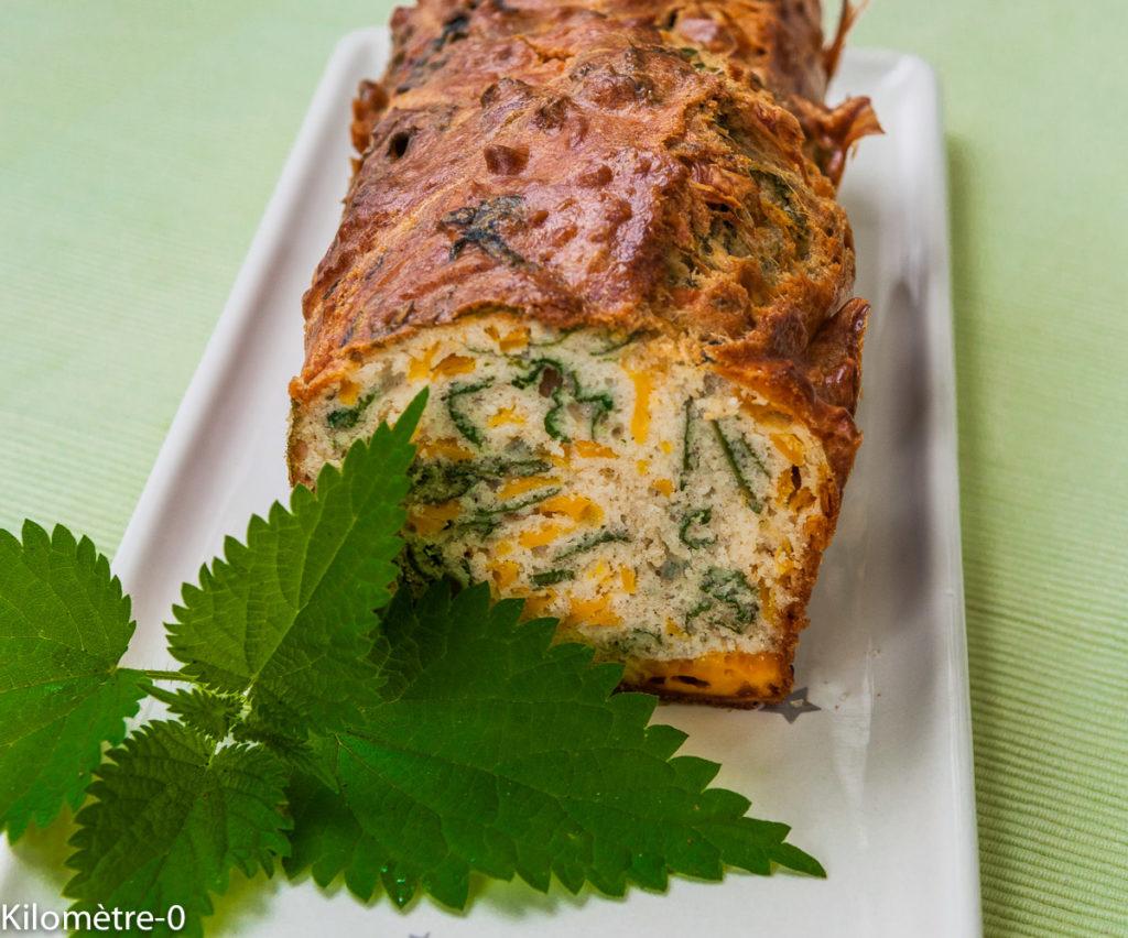 Image, photo de recette de Cake aux orties et au gouda, facile, rapide, léger, healthy du blog kilomètre-0