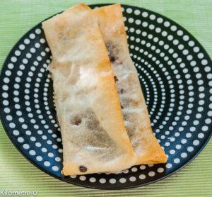 image de recettes de brik, brick, chocolat, poire, très facile, rapide, léger, dessert de Kilomètre-0