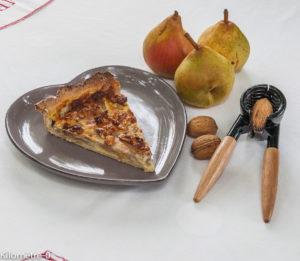 Image de recette de très bonne tarte aux poires et aux noix, facile, rapide, maison, bio de Kilomètre-0
