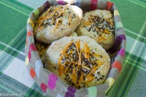 image de recette de Pains aux céréales et gouda, facile, rapide, sans montée, avec levure chimique, pain très facile, bio,