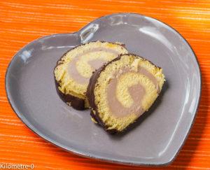 Photo de recette de bûche, facile, marrons, châtaignes, rapide, bio, Noël Kilomètre-0, blog de cuisine réalisée à partir de produits locaux et issus de circuits courts