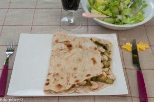 image de recette de Tortilla poulet courgettes, facile, maison, rapide, légère, bio de Kilomètre-0