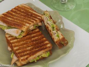 image de recette facile, bio de croque monsieur poulet avocat, rapide, bio, circuit court de Kilomètre-0, blog de cuisine