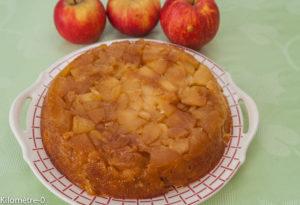 image de recette facile, rapide, pas chère de Gâteau breton version tatin, pommes, tarte, Kilomètre-0, fruits, automne, hiver