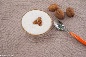 image de recette facile, rapide, économique, bio, légère de Kilomètre-0, mousse au noix, dessert