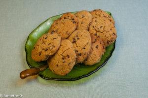 image de recette, facile, rapide, légère, bio de Kilomètre-0, healthy de cookies aux pépites de chocolat