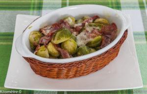 image de recette facile de Choux de Bruxelles jambon et tomme, légumes, hiver, chou,