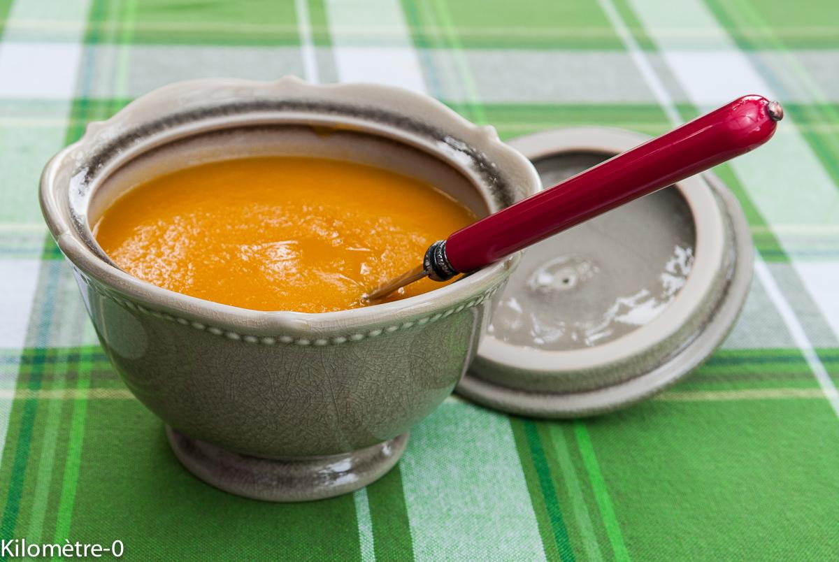 image de soupe, velouté, Velouté de carottes et patates douces, légumes, bio, facile, rapide, léger de Kilomètre-0, hiver