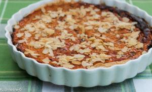 image de recette de Tarte au thon à la tomate et aux amandes, facile, rapide, légère de Kilomètre-0