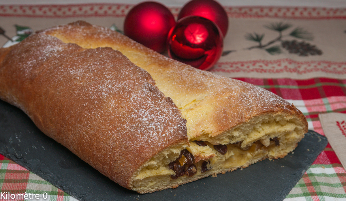 image de recette allemande de Noël, stollen, facile, rapide, léger de Kilomètre-0