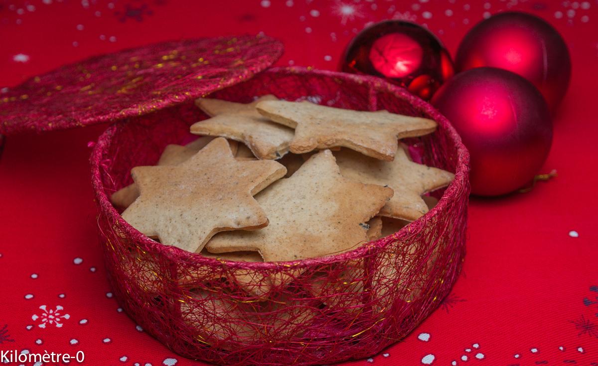 image de recette de sablés aux épices, Noël, facile, légers, économique, rapide, biscuits, petits gâteaux, étoiles