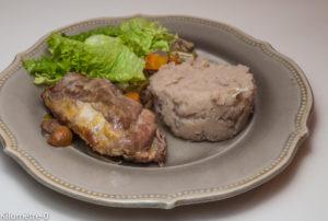 image de recette de Kilomètre-0 de pintade aux légumes, purée de pommes de terre et châtaignes, facile