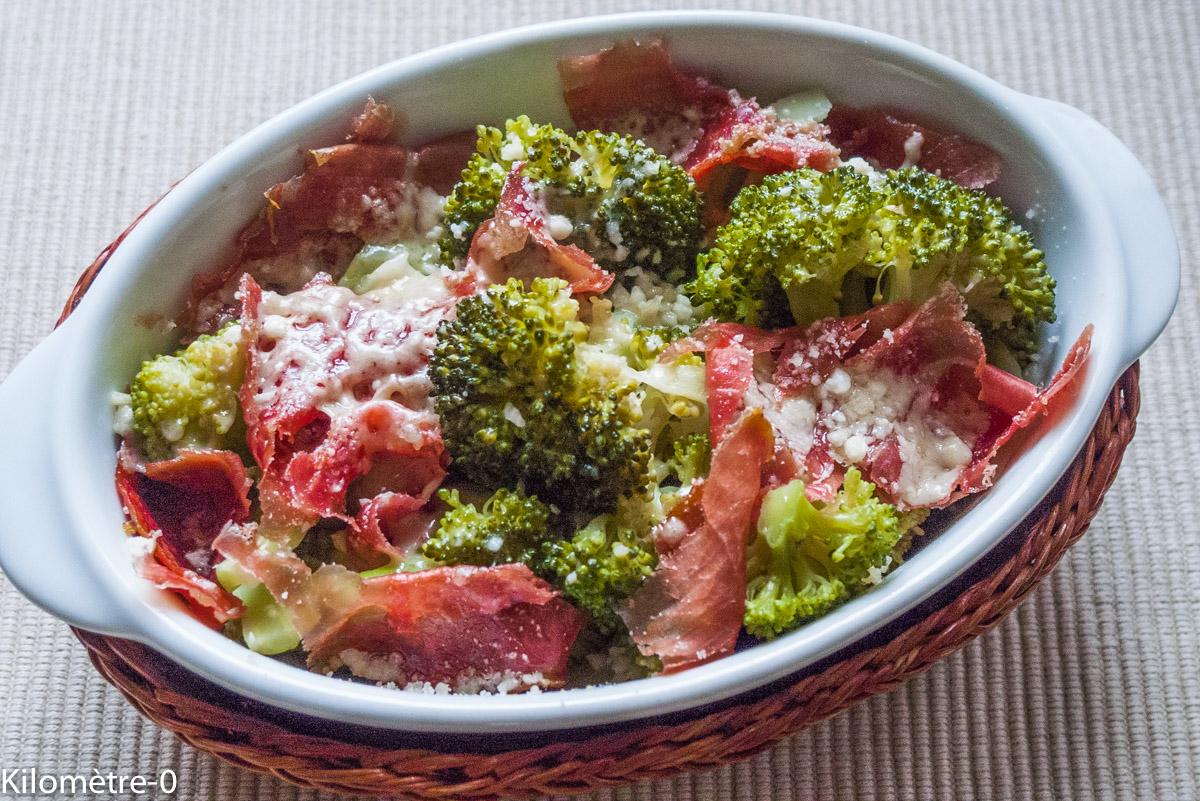 image de recette de Gratin de brocolis à l'italienne, facile, rapide, léger, bio de Kilomètre-0
