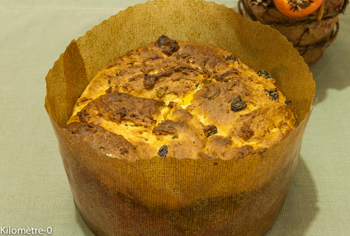 image de recette de panettone, recette italiernne, cuisine, Italie, Noël, brioche, de Kilomètre-0