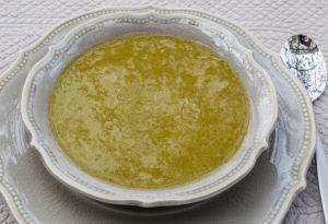 image de potage, velouté, soupe de poireaux à l'orange de Kilomètre-0, blog de cuisine, circuit court, recette de saison