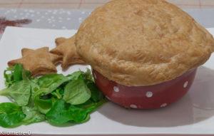 image de recette de saint jacques, cèpes et feuilleté, facile, plat de Noël, léger