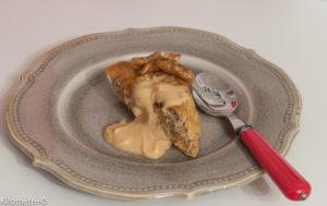 image de recette facile, rapide, légère, bio de gâteau aux noix sauce caramel, dessert, Kilomètre-0