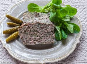 image de recette de terrine économique, pâté, facile, rapide, légère, terrine de porc, orties, de Kilomètre-0