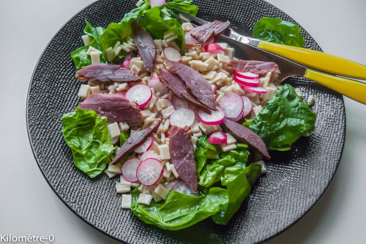 image de recette facile de Salade de crozets au magret fumé